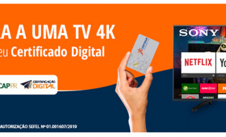 Certificação digital: concorra a uma TV 4K